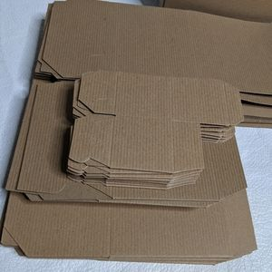 "30 Cardboard Gift Boxes Brown 2"" 5"" 6"""